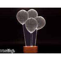 7/24 Hediye Dekoratif Balon 3D Led Lamba Gece Lambası