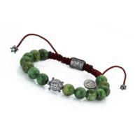 Thuja Jewels Yeşil Opal Taşlı Kaplumbağalı 925 Ayar Gümüş Bayan Bileklik