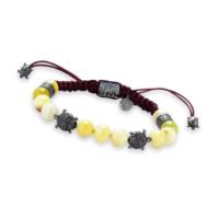 Thuja Jewels Sarı Opal Taşlı Kaplumbağalı 925 Ayar Gümüş Bayan Bileklik