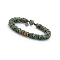 Thuja Jewels Yeşil Opal Taşlı 925 Ayar Erkek Bileklik