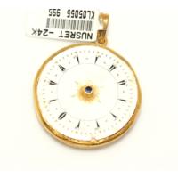 Nusret Taki 24 Ayar Altın Saat Modeli Kolye Ucu