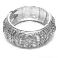 Biggbijoux Hathor Tırtık Kelepçe-Gümüş Renkli