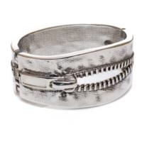 Biggbijoux Hathor Fermuar Kelepçe-Gümüş Renkli