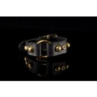 Biggbijoux Hathor Kemerli Deri Bileklik-Siyah Renkli
