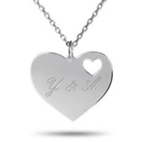 Soufeel 925 Ayar Gümüş Sevgiliye Kalp İsim Kolye