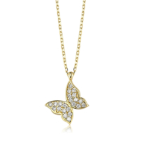 Diva Pırlanta Altın Kelebek Kolye