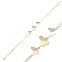 Diva Pırlanta Altın Kelebek Bileklik