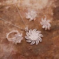 Sümer Telkari Dalya Çiçeği Telkari Elişi Gümüş Set 1552