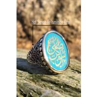 Tesbih1453 İsimli Erkek Gümüş Yüzük Hat Sanatı İle Arapça Yazılı 16