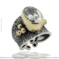 Çağrı Gümüş Gümüş Zirkon Taşlı Bayan Yüzük Tasarım