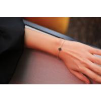 Reis Siyah Swarovski Taşlı Kutup Yıldızı Bilezik B0174