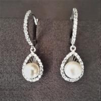 Bella Gloria İnci Damla Gümüş Küpe (Gp00222)