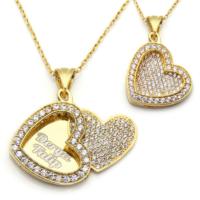 Mina Silver Açılan Kalp İsimli Gümüş Beyaz Taşlı Kişiye Özel Altın Kaplama Kolye
