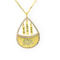 Mina Silver Bir Ömür Sen Yazılı İsimli Gümüş Taşlı Kişiye Özel Altın Rengi Kolye