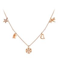 Argentum Concept Zirkon Taşlı Rose Gümüş Şans Kolyesi