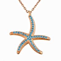 Argentum Concept Mavi Taşlı Gümüş Deniz Yıldızı Kolye