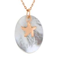 Argentum Concept Sedef Taşlı Gümüş Deniz Yıldızı Kolye