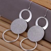 Byzinci Moda Vintage Üç Daire Gümüş Küpe