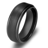 Chavin Erkek Mat Siyah Fırçalanmış Tungsten Yüzük Dm75 21