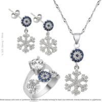 Çağrı Gümüş Zirkon Taşlı Gümüş Kartanesi 3'lü Set 15