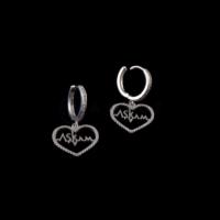 Akyüz Gümüş Beyaz Zirkon Taşlı Aşkım Gümüş Küpe Kpz025