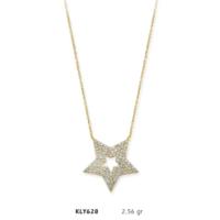 Romeo Pırlanta 14 Ayar Altın Yıldız Kolye - Kly628