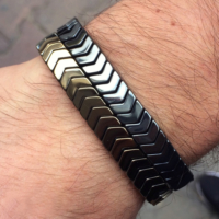 Taqıntı Bronz & Gümüş Hematit Taşı Erkek Bileklik