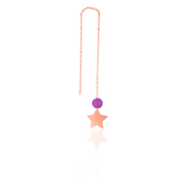 Azuris Silver Akik Taşlı Yıldız Küpe A000190
