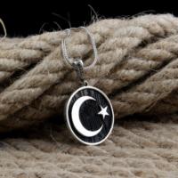 Tesbihevim Ayyıldızlı Gümüş Kolye Egk-22
