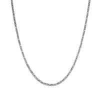 Tesbihevim Erkek Gümüş Kral Zincir Kolye Egk-016