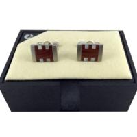 Colibri Beyaz Sedefli Model Kol Düğmesi & Anahtarlık Seti 2
