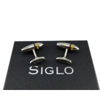 Siglo Accessory Sarı Kırmızı Çizgili Model Kol Düğmesi