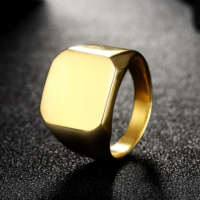 Chavin Gold Sarı Bayan-Erkek Çelik Yüzük Dn43 27