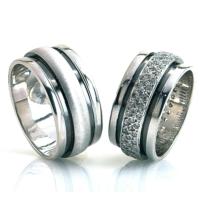 Berk Kuyumculuk Gümüş Alyans 6001(Çift)