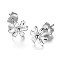 Myfavori Küpe 925 Ayar Gümüş Kaplama El Yapımı Çiçek Küpe