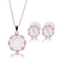 Myfavori Takı Seti Opal Kristal Taş Kolye Ve Küpe Takı Seti