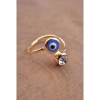 The Bety's Nazar Boncuklu Tek Taşlı Eklme Yüzüğü