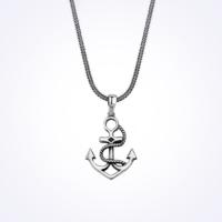 Mina Silver Denizci Dümeni İskele Alabanda Taşsız Gümüş Erkek Kolye