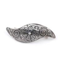 Akyüz Gümüş Telkari Gümüş Saç Tokası Tk001