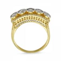 Sembolgold Özel Tasarım! Altın 5 Taş Yüzük Zirkon Taşlı Sg42-783435 22