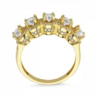 Sembolgold Özel Tasarım! Altın 5 Taş Yüzük Zirkon Taşlı Sg42-783437 22