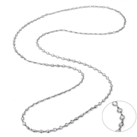 Azuris 925 Ayar Gümüş Uzun Taşlı Zincir Kolye Upt1141
