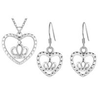 Myfavori Takı Seti Gümüş Kaplama Kalp Kolye Ve Küpe Takı Seti 3109