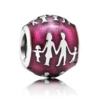 Angemiel Pembe Aile Gümüş Kaplama Charm