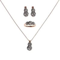 Sanroza Gümüş Takı Elmas Montür Gümüş Takı Seti 1412