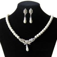 Modakedi Kristal Taşlı İnci Gümüş Sevgiliye Bayan Takı Seti