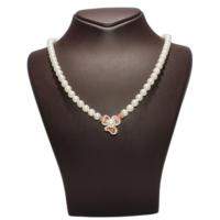 Nusret Takı 925 Ayar Rose Gümüş Kelebekli İnci Kolye