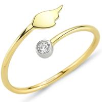 Goldstore 14 Ayar Altın Taşlı Kanat Yüzük Grf40211 30