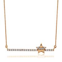 Goldstore 14 Ayar Altın Çubuk Yıldız Kolye Gp40738
