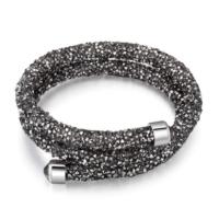 Monemel Swarovski®® Taşlı Crystal Dust Bileklik - Dark Silver